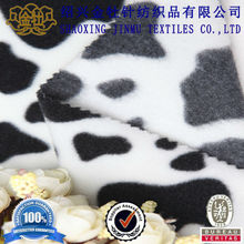 2014 high quality cow print fleece polyester fabric