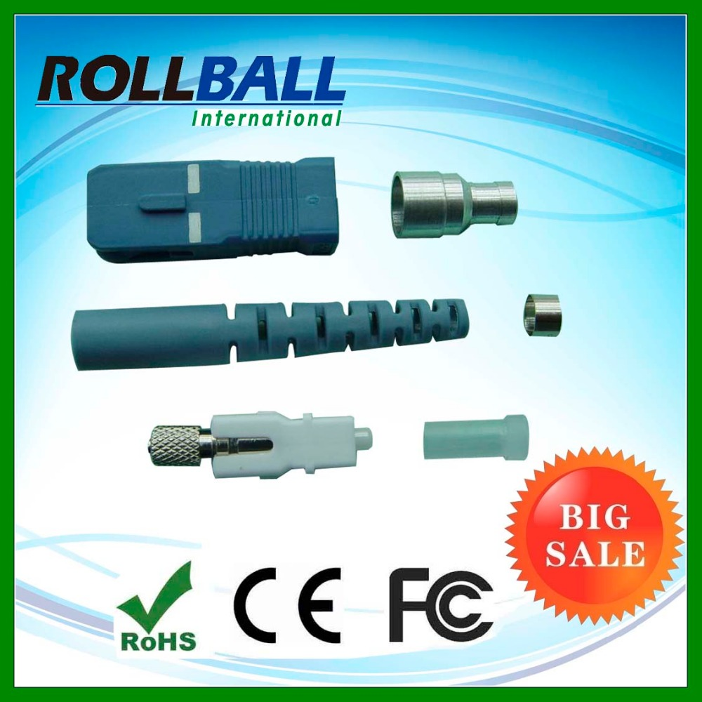 Fiber passive components single mode simplex fiber optic sc apc connector