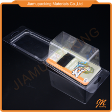 clear plastic carded blister box for consumer packing