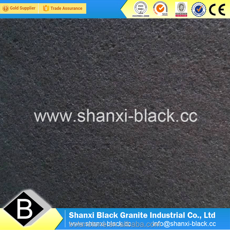 absolute black granite flamed+waterjetted finish bushhammered finish shan black