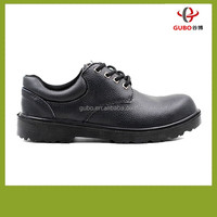 Men'S Brown Leather Waterproof Acid Resistant Composites Toe Action Leather No Lace Safety Footwear