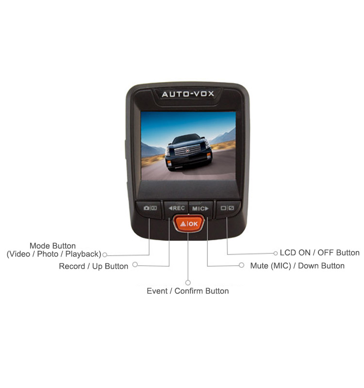 GPS optional 2.31 inch 1080p vehicle blackbox dvr user manual