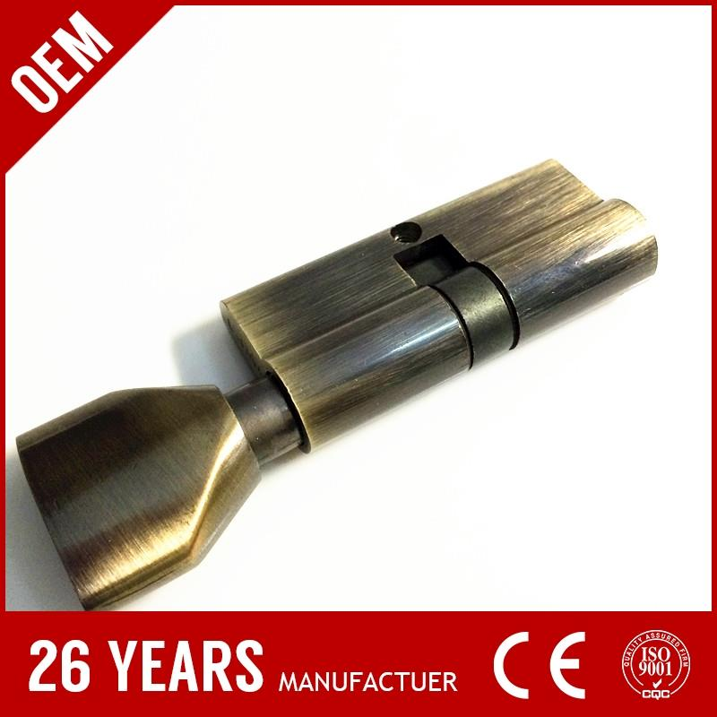 zhejiang supplier brass double side key car door cylinder with nickel plate
