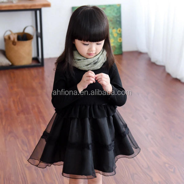 F10286A Top selling girls' dress newest style elegant organza baby dress