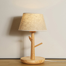 Low Prices Simple Sytle Wood Base Table Lamp For Bedrooms