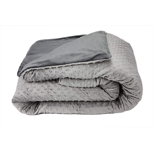 Queen/King size weighted blanket with dot minky cover