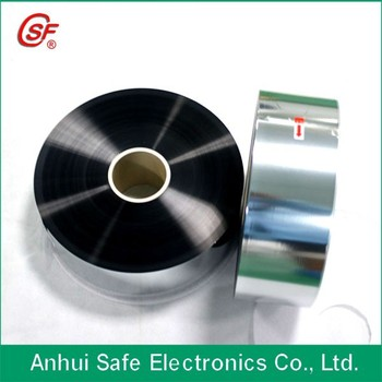 4micron thickness 75mm width Al/Zn Metallized Capacitor Grade Safety Films (BOPP, PET)