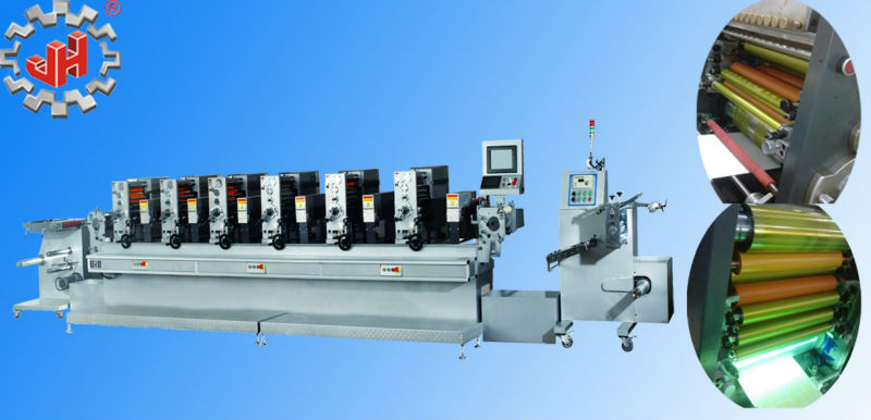 High quality automaitc letterpress Intermittent rotary label printing machine with 6 colors