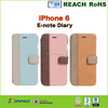 Wholesale manufacture leather flip case for iphone 6