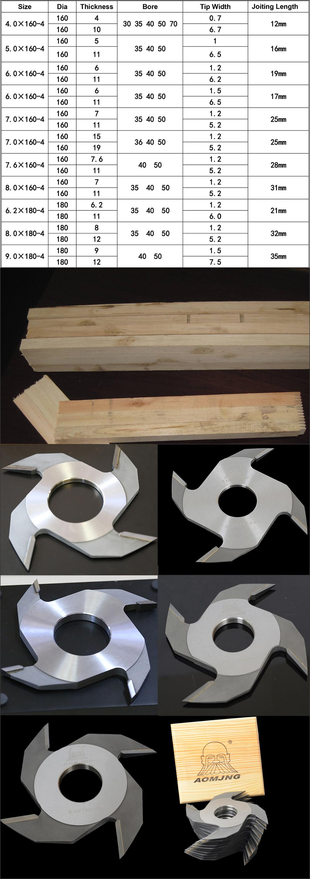 woodworking finger joint cutter for construction wood beam