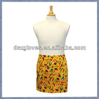 Premium Waist Apron with Divided Front Pocket in Peco Peppers Yellow