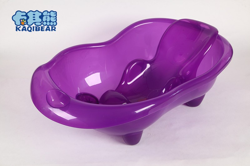 High quality Safety plastic freestanding transparent and durable baby bath tub