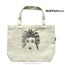 Alibaba Custom printed Standard Size Cotton Canvas Tote Bag with Print