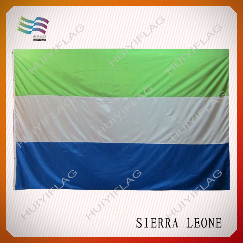 Giant Sierra Leone Printing National Flag