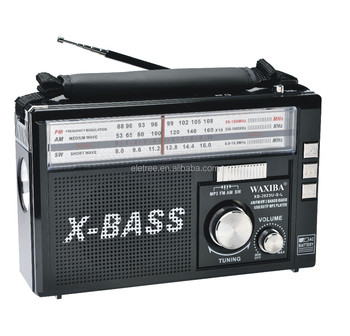 Tragbare waxiba x-bass am/fm/sw radio receiver mp3-player mit taschenlampe