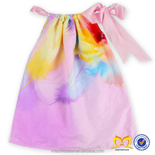 Latest Design Baby Frock Summer Dress Little Girls Flower Printing Casual Dress Baby Dress New Style Wholesale