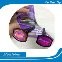 Alibaba factory direct sale car vent air freshener/vent clip logo printing air freshener