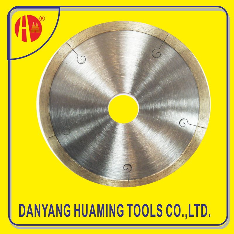 Dry or Wet Cutting Continuous Rim Diamond Saw Blade for Tile
