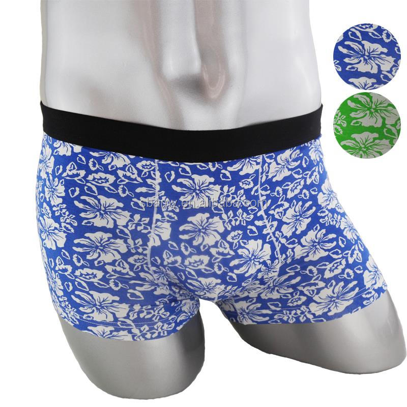 sbamy high quality bamboo fiber printed men's boxer short