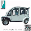 Electric people mover, electric car with 4 seats, electric car with aluminum hard door