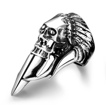 Fashion Jewelry Skull Ring Mold In Stainless Steel Rings