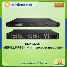 DD AC3 (2.0/5.1/7.1) passthrough HDMI/YPbPr /AV MPEG2 MPEG4 Encoder To DVB-T/C/ATSC/ISDB-T Modulator