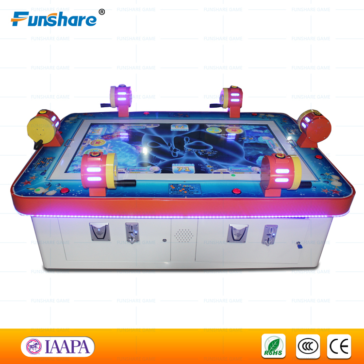 Funshare 6 players coin operated arcade fishing game for Arcade fishing games