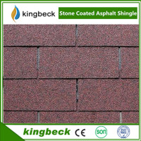 Kingbeck high quality Multi-color Fiberglass Goethe shape waterproof shingle
