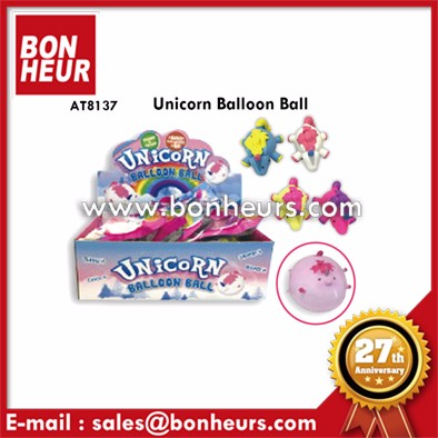 New Novelty Toy Colorful Soft Balloon Inflate Ball Unicorn Toy