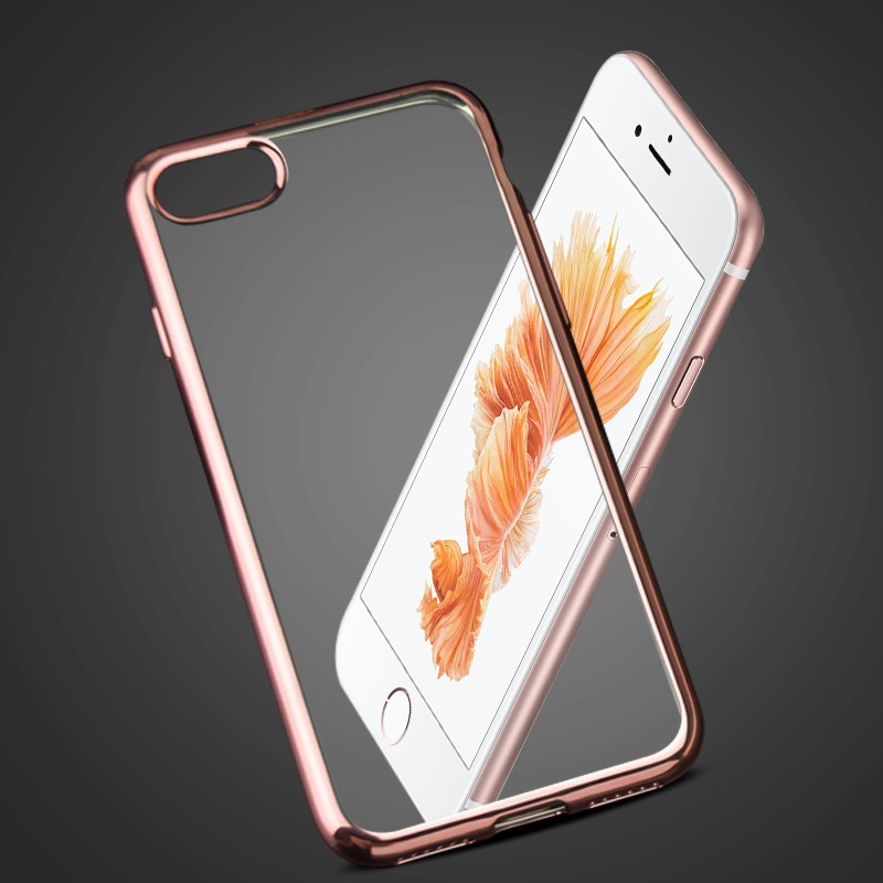 September manufacturer Popular Luxury Phone Case Ultra Thin Clear Plating Electroplating TPU Soft Mobile Phone Case for iphone 7
