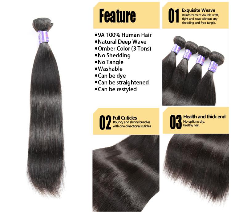 Top Quality Virgin 8a Grade Brazilian Hairwholesale Origin