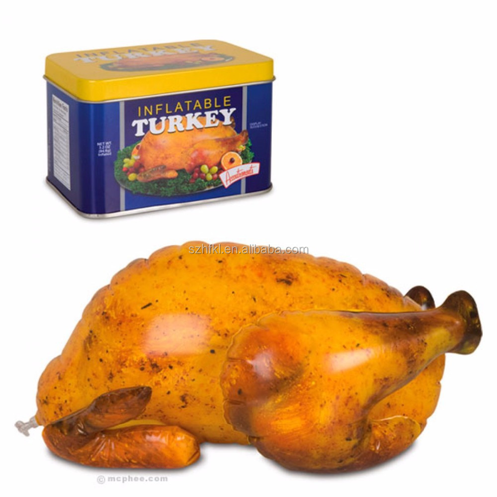 16 inch Inflatable Roast Holiday Turkey for decoration