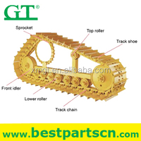 Heavy equipment excavator undercarriage parts