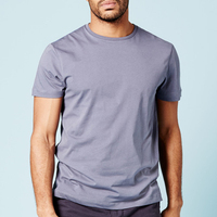 Blank plain 50%cotton and 50%polyester slim t shirt