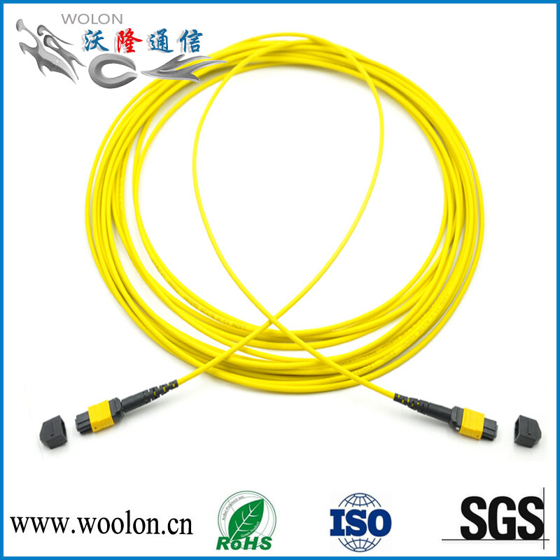 Singlemode fiber optic cable MPO patch cord