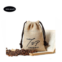 Fashion Jute Fabric Gift Bag Small Drawstring Gift Bag For Promotion