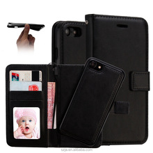 For iPhone 7 plus case,3 Cards Slot Photo frame PU Leather Wallet Case Detachable Flip Case for apple iphone 7 plus