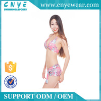 CNYE 2016 OEM Hot Sex Image High Quality Cheap Push Up Lady Sexy Floral Bikinis