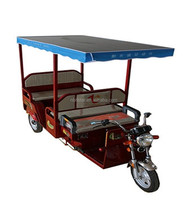 Solar panel electric tricycle with roof rickshaw tricycle