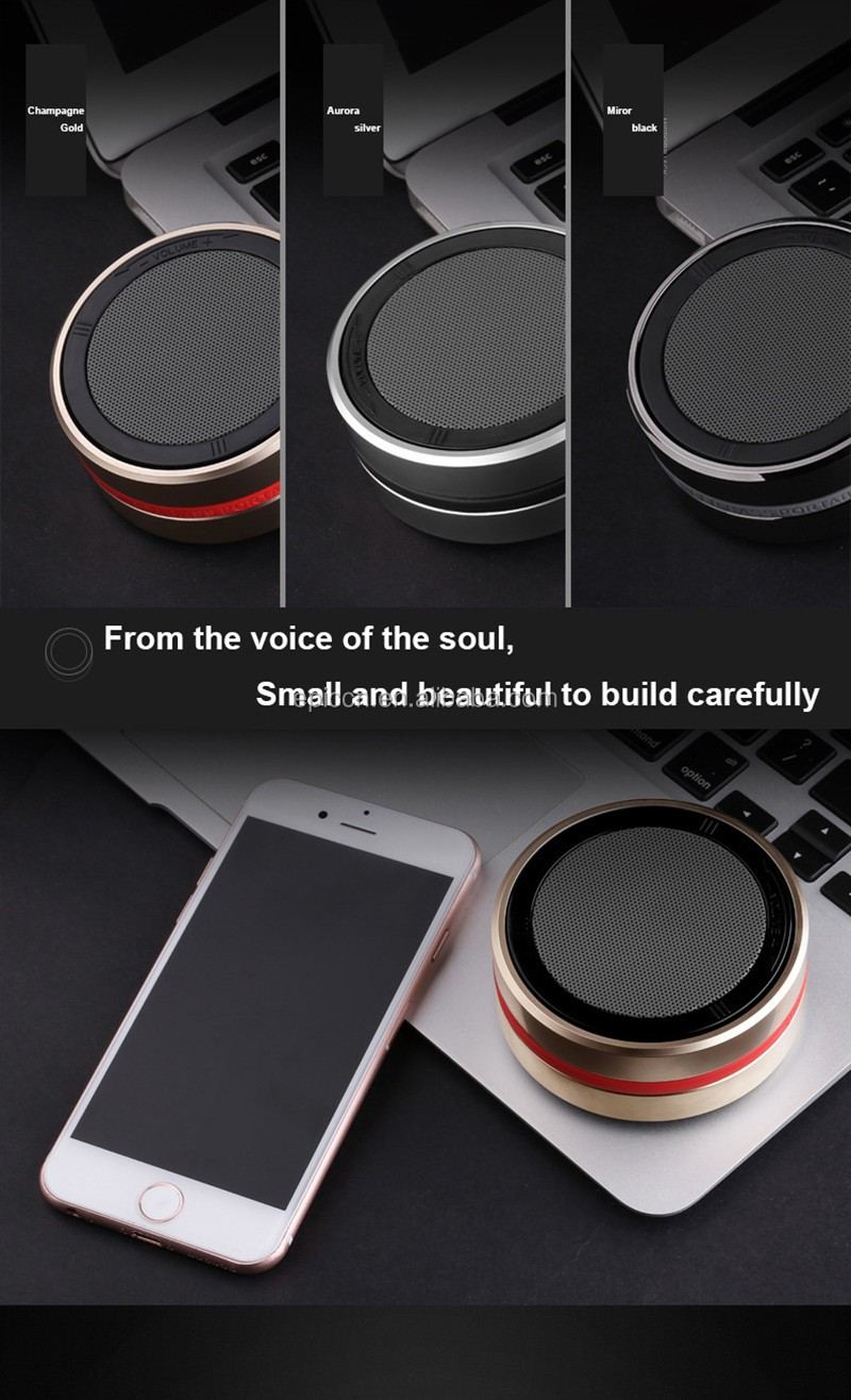 2017 New Premium Mini Speaker Rotatable, Mental Portable SpeakerX1, Bluetooth Speaker