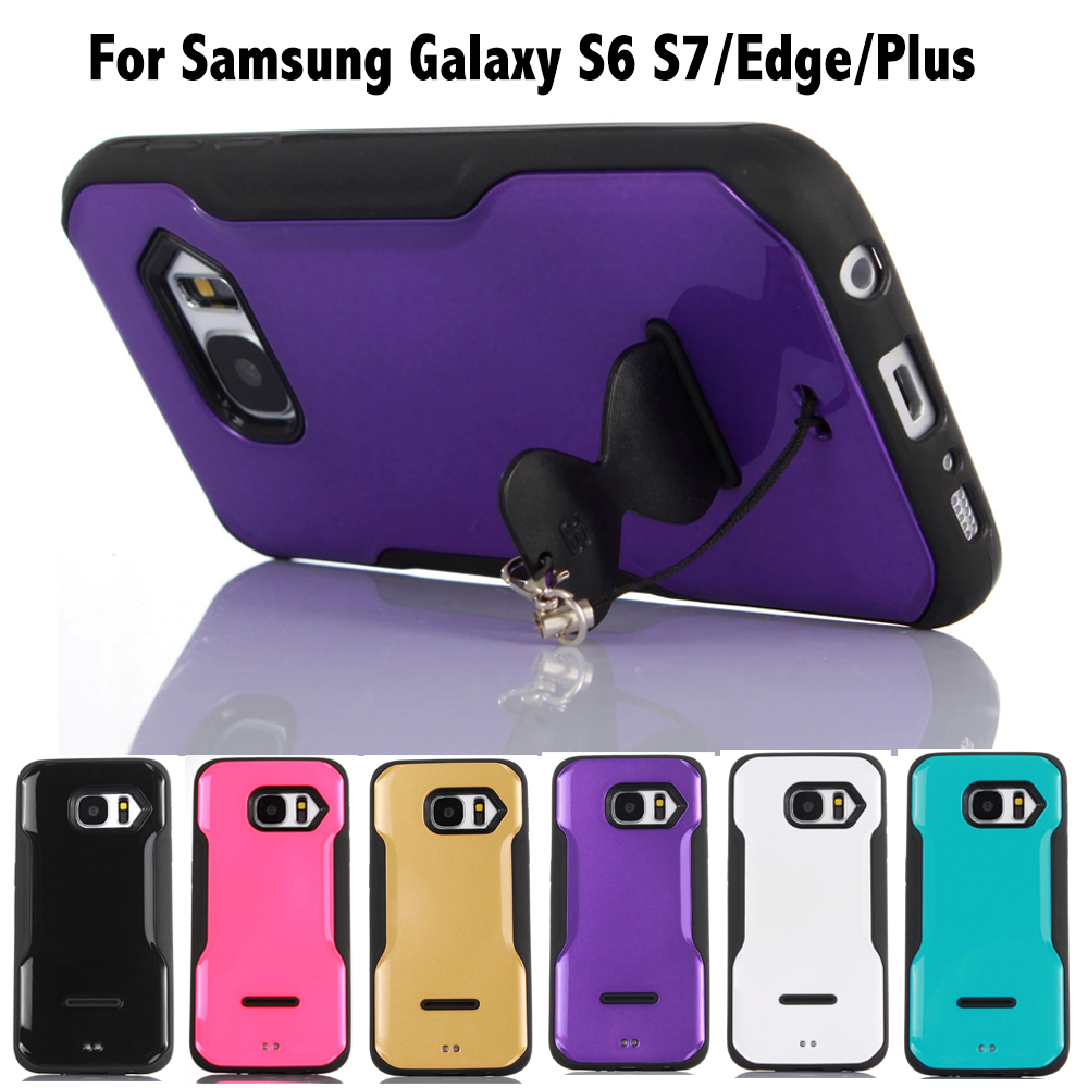 Paypal acceptable Hybrid combo With stand anti shock cover for Samsung Galaxy s3 s4 s5 mini s6 plus s7 edge Case