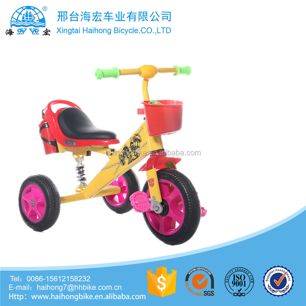 Hot sell suspension three wheels safe children bikes /kids tricycles