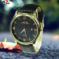 PSW steel gold classic watch fashion quartz watch men 2016