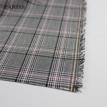 PARISS fashion designer yarn dyed plaid ginham check fabric to make blazer
