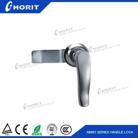 AB803 Bright chrome plating handle latch High Quality Door Locks For switchgear handle lock