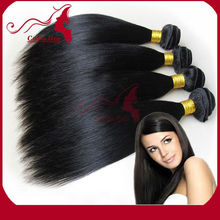 Top Quality 100% Virgin Brazilian Human Hair straight Virgin Human Hair Extensions/Wefts Accept Paypal Payment