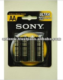 Sony High Quality Blister Card Zinc AA Size Battery