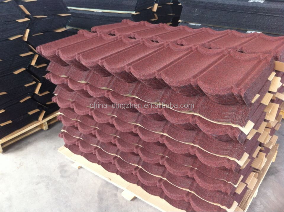 New Building Materials For Stone Coated Metal Roofing Tiles