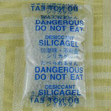 Non-toxic,DMF free,MSDS report Clear silica gel ball humidity absorber bag