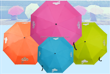 190T color changing pongee fabric Material and Umbrellas,Umbrella Color Changing when Wet Type 3 Folding Automatic Umbrella